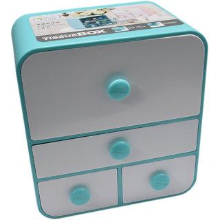 6th Dimensions Multipurpose Cosmetic Organiser Box (Blue)