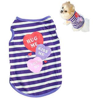 Futaba Fashion Puppy Stripe Vest T Shirt - L