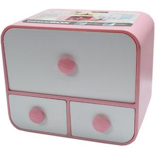 6th Dimensions Multipurpose Small Cosmetic Organiser Box (Pink)