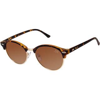 Cardon Brown Round Gradient Polarised UV Protected Sunglass