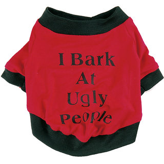 Futaba Puppy  I Bark At Ugly People  Dog shirt - Medium