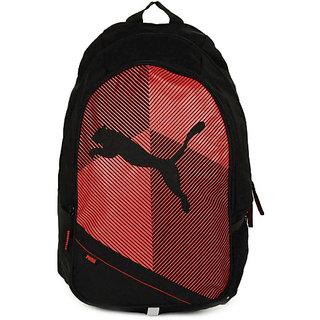 PUMA Unisex Echo Plus Black  Red Backpack Bag