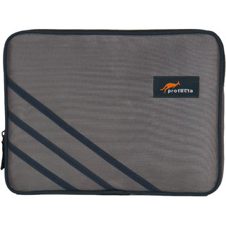 Protecta High Bar Laptop Sleeve for Laptops with Screen Size up to 14 Inch (Grey  Navy) - Elementary Series