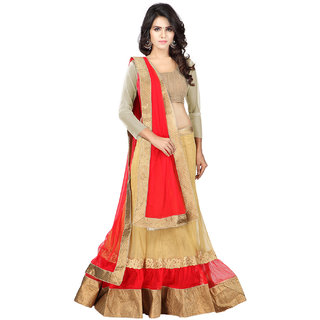 Payal Fashion Womens Semi-stitched Lehenga choli in Net Fabric