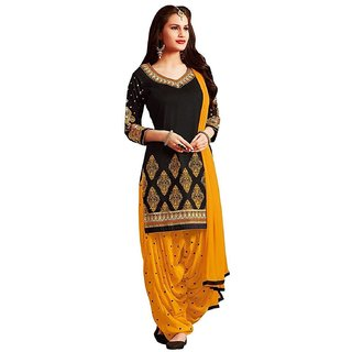 Buy Salwar Suitstexstile Women Dress Material Black Colour Pure