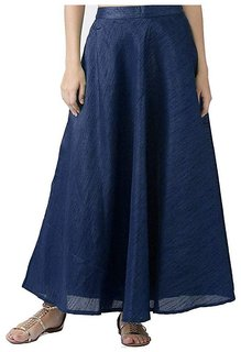 f3d655bdd Shararat Women's Long Indo Western Traditional Skirt (NAVY BLUE)