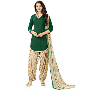 Multicolor Cotton Printed Kurta & Churidar Material Dress Material (Unstitched)