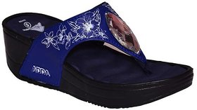 Adda Navy Blue Color Heels For Women