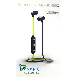 Syska Bluetooth Magnet Headset H15 Wirless Earphones