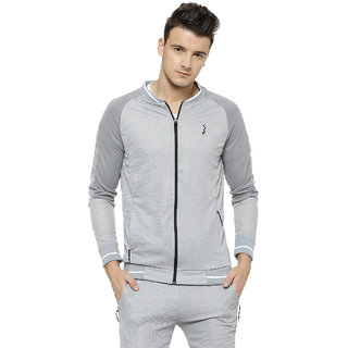Campus Sutra Men Ribbed Collar Sports Jacket
