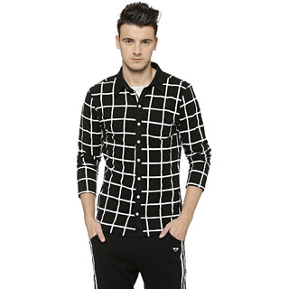 Campus Sutra Men's White Checks Casual Shirts