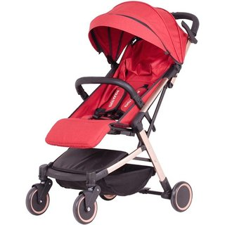 Polka Tots The Trolley Stroller Compact Portable Soft Comfortable Safe Shockproof Light Weight Leather Finish Stro