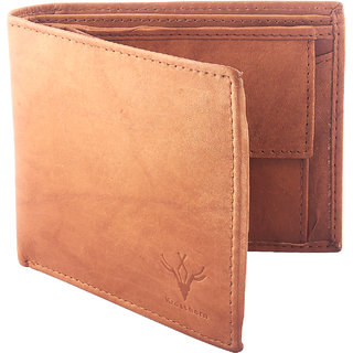 Krosshorn Men Genuine Leather Tan Formal Wallet