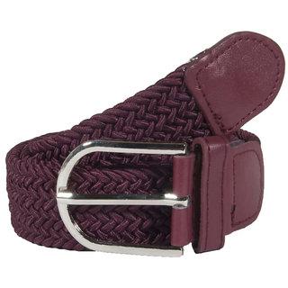 Styles Creation Women's Stylish, Designer Maroon Stretchable Elastic Belt (BELTLD39)