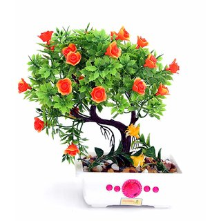 Artificial Plant with Pot and All Accessories for Home and Office Decor a20 (9 Inch Height)