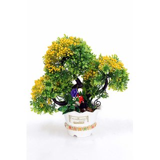 Artificial Plant with Pot and All Accessories for Home and Office Decor a11(9 Inch Height)