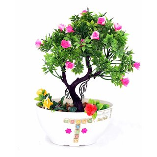Artificial Plant with Pot and All Accessories for Home and Office Decor a26 (9 Inch Height)