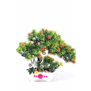 Artificial Plant with Pot and All Accessories for Home and Office Decor a23 (9 Inch Height)