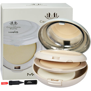 Mars Collagen Powder BB Light Beige P401-02 With Free Adbeni Kajal Worth Rs.125/
