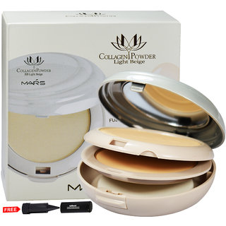 Mars Collagen Powder BB Light Beige P401-03 With Free Adbeni Kajal Worth Rs.125/