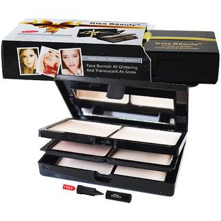 Kiss Beauty Compact Powder 9530-01 With Free Adbeni Kajal Worth Rs.125/