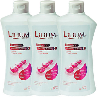 Lilium Herbal Ultra Silky  Strong Shampoo 450ml Pack of 3