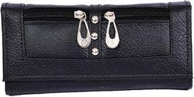 Stylinc Ladies Leatherite Wallet Balck