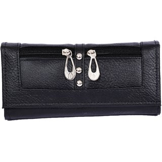 Stylinc Ladies Leatherite Wallet Balck