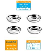 AH Bowl Set of 4 Pcs Stainless Steel Bowl Set   250 ML