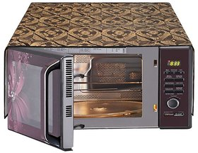 Dream Care Microwave Oven Top Cover For 17 Liter With 6 Pockets Utility , Size (25x15 Inches)