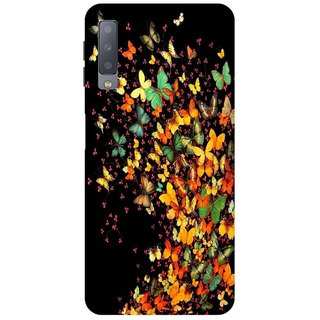 Back Cover for Samsung A7 2018 (Multicolor Flexible Case)