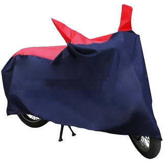 HMS Two wheeler cover with mirror pocket for Hero Duet-Colour RED AND BLUE