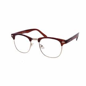 Debonair Anti-Glare UV Protected ClubMaster Sunglasses For Unisex(Clear)