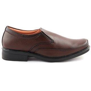 Solid Brown Formal Shoes For Men