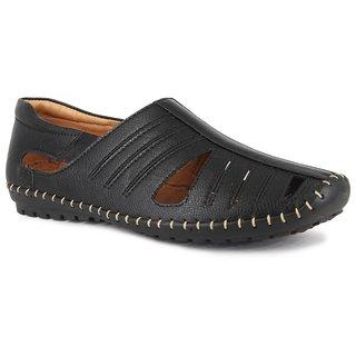 Imcolus  Men's Black Sandals