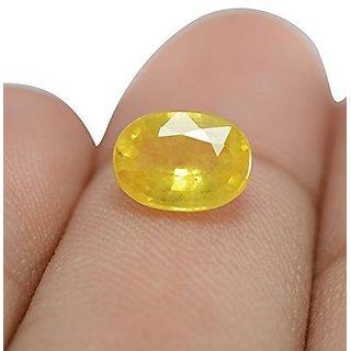 Natural Pukhraj 4.00 carat Unheated Ceylon Yellow Sapphire Certified Gemstone
