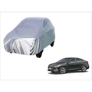 Trigcars Hyundai Verna 2018 Car Body Silver Cover + Free Car Bluetooth
