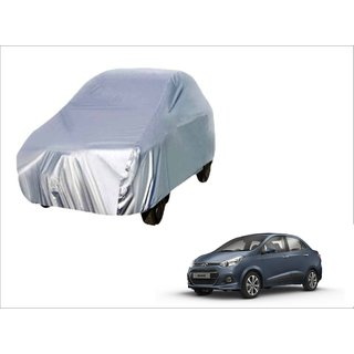Trigcars Hyundai Xcent Car Body Silver Cover + Free Car Bluetooth