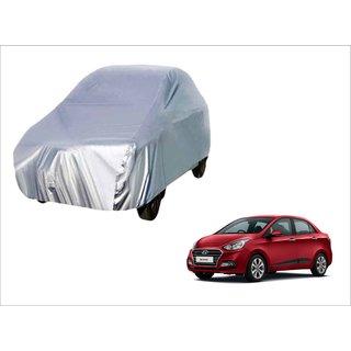 Trigcars Hyundai Xcent New Car Body Silver Cover + Free Car Bluetooth