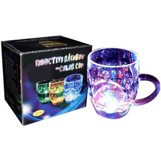 LED Colorful Flashing Light Up Glass Cup Mug Bar Party Club Wedding