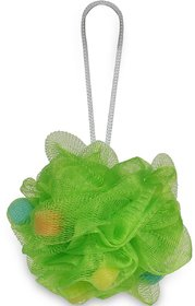 Gorgio Professional Wheat Grass Green loofah infused with foaming cube
