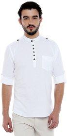 Roller Fashions White coloured short cotton kurta