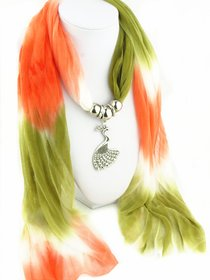 Chiffon Scarf/Stole with Pendant For Women