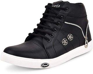 Stylos Men's 920 Black Casual shoes