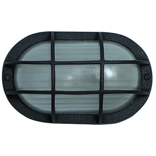 Fos Lighting Black Capsule Die Cast Aluminum Bulkhead