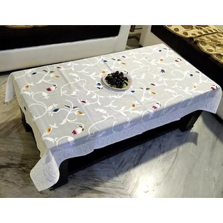 Teen patti Table Cover Net Fabric 60X40 Inches (white) by vivek homesaaz