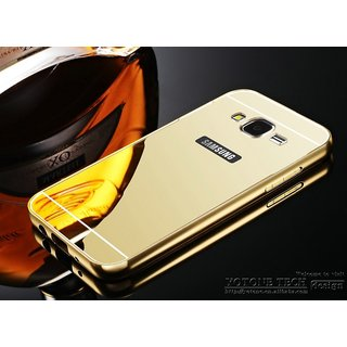 Mirror Aluminium Metal Bumper Back Cover Case for Samsung J5(2016)