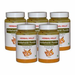 Herbal Hills Ambehaldi Powder - 100 gms - Pack of 5