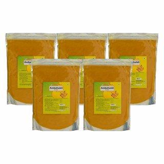 Herbal Hills Ambehaldi Powder - 1 kg powder - Pack of 5