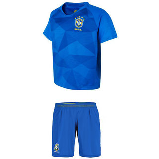 newest collection 3a7d8 46fbf Uniq Kids Football Jersey (Brazil Blue Set)
